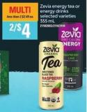 Zevia Energy Tea Or Energy Drinks - 355 Ml