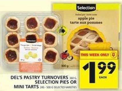 Del's Pastry Turnovers Or Selection Pies Or Mini Tarts