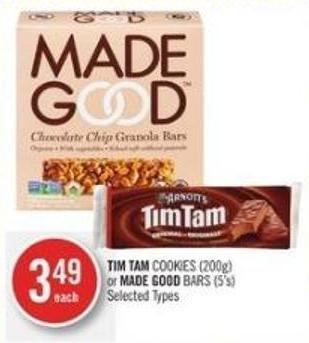 Tim Tam Cookies (200g) or Made Good Bars (5's)