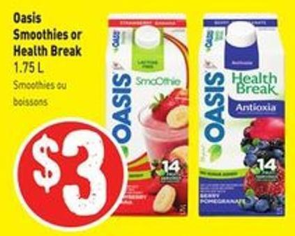 Oasis Smoothies or Health Break 1.75 L