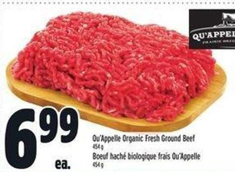 Qu'appelle Organic Fresh Ground Beef