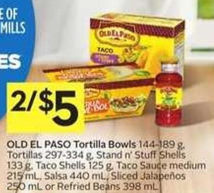 Old El Paso Tortilla Bowls - And Get 30 Air Miles Bonus Miles