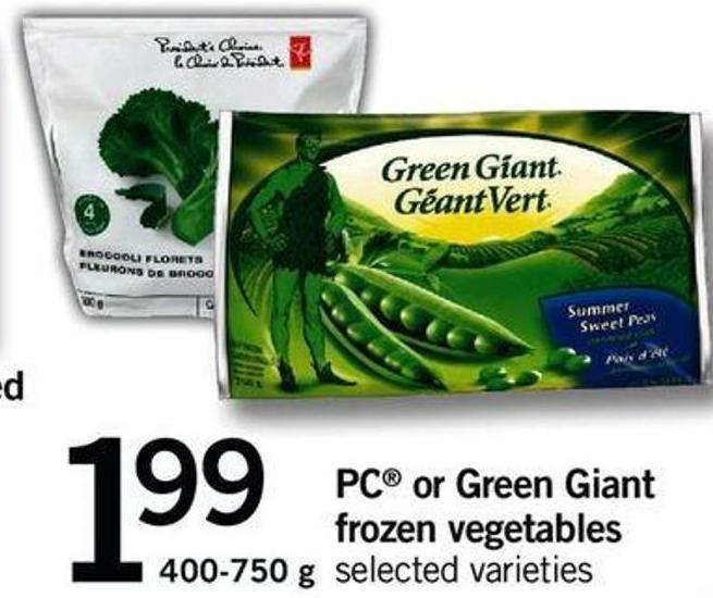 PC Or Green Giant Frozen Vegetables - 400-750 G