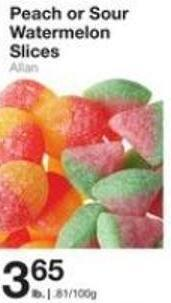 Peach or Sour Watermelon Slices