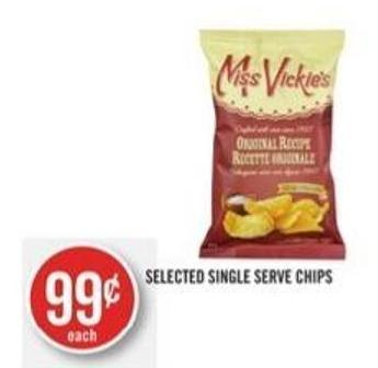 Selected Single Serve Chips