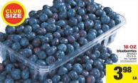 Blueberries - 18 Oz