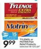 Tylenol or Motrin Pain Relief Products - 15 Air Miles Bonus Miles