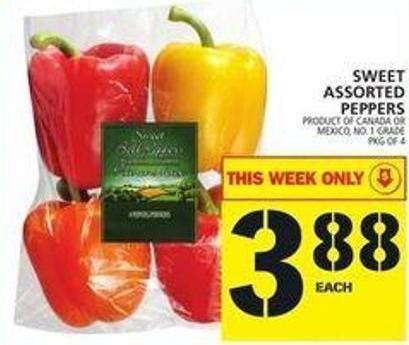 Sweet Assorted Peppers