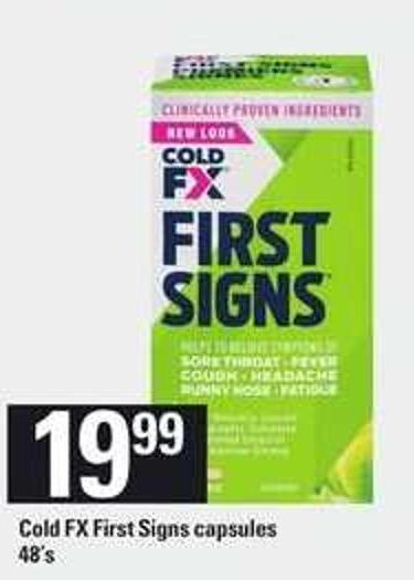Cold Fx First Signs Capsules - 48's