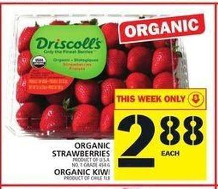 Organic Strawberries or Organic Kiwi