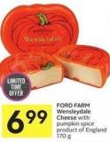 Ford Farm Wensleydale Cheese With Pumpkin Spice Product of England 170 g