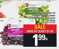 PC Extra Large Red Or Green Seedless Grapes