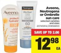 Aveeno - Neutrogena Or Ombrelle Sun Care