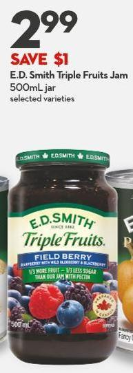 E.d. Smith Triple Fruits Jam 500ml Jar