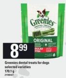 Greenies Dental Treats For Dogs - 170.1 g