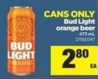 Bud Light Orange Beer - 473 mL