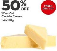 1-year-old Cheddar Cheese 1.49/100g