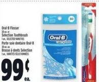 Oral-b Flosser 30 Un. Or Selection Toothbrush 1 Un.