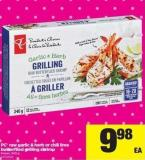 PC Raw Garlic & Herb Or Chili Lime Butterflied Grilling Shrimp - 340 g