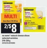 No Name Natural Cheese Slices - 210/230 g