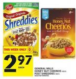 General Mills Honey Nut Cheerios Or Post Shreddies