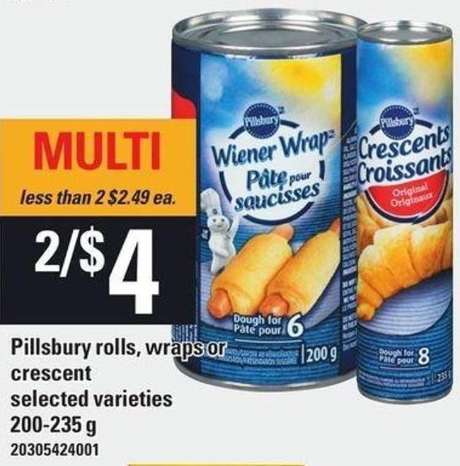 Pillsbury Rolls - Wraps Or Crescent - 200-235 g