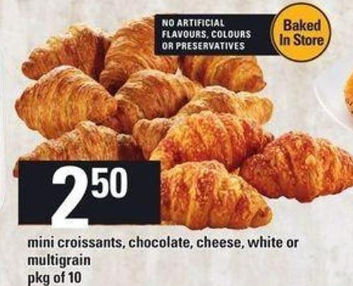 Mini Croissants - Chocolate - Cheese - White Or Multigrain