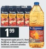 Rougemont Apple Juice 2 L - Oasis Juice Boxes 8x200 mL Or Allen's Apple Juice 1.89 L Or Boxes 8x200 mL