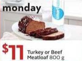 Turkey or Beef Meat Loaf