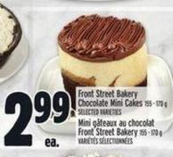 Front Street Bakery Chocolate Mini Cakes 155 - 170 g