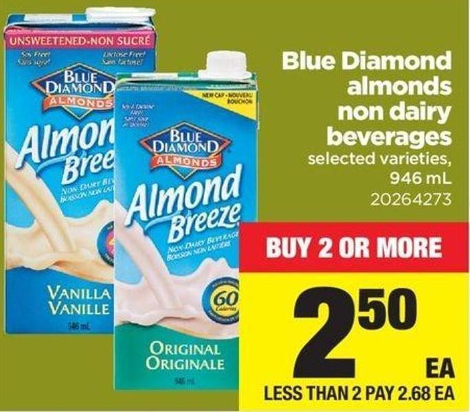 Blue Diamond Almonds Non Dairy Beverages - 946 mL