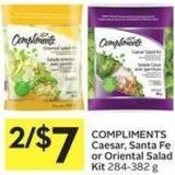 Compliments Caesar - Santa Fe or Oriental Salad Kit 284-382 g