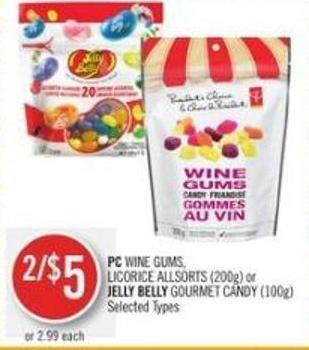 PC Wine Gums - Licorice Allsorts (200g) or Jelly Belly Gourmet Candy (100g)