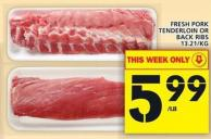 Fresh Pork Tenderloin Or Back Ribs