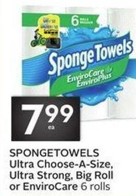 Spongetowels Ultra Choose-a-size - Ultra Strong - Big Roll or Envirocare