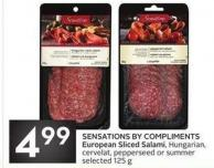 Sensations By Compliments European Sliced Salami