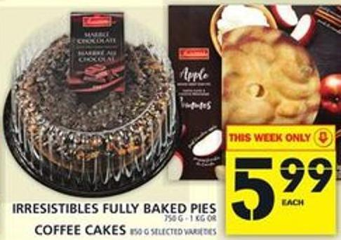 Irresistibles Fully Baked Pies Or Coffee Cakes