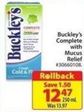 Buckley's Complete With Mucus Relief