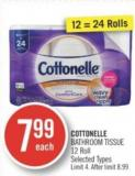 Cottonelle Bathroom Tissue