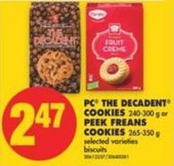 PC The Decadent Cookies - 240-300 g or Peek Freans Cookies - 265-350 g