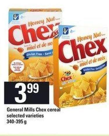 General Mills Chex Cereal - 340-395 g