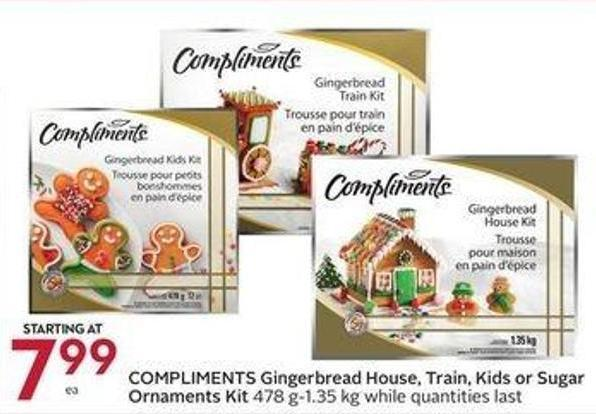 Compliments Gingerbread House - Train - Kids or Sugar Ornaments Kit 478 G-1.35 Kg