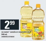 No Name Canola Or Vegetable Oil - 946 mL