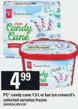 PC Candy Cane - 1.5 L Or Bar Ice Cream - 6's