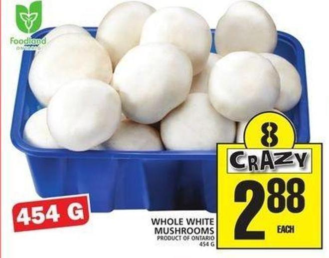Whole White Mushrooms
