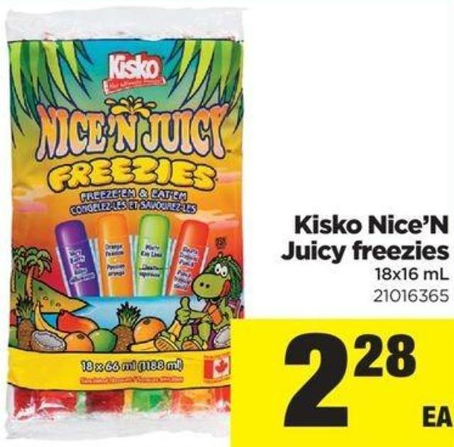 Kisko Nice'n Juicy Freezies - 18x16 Ml