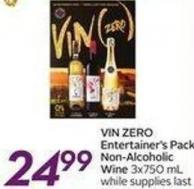 Vin Zero Entertainer's Pack Non-alcoholic Wine