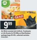 Air Wick Scented Oils 2x20 Ml - Freshmatic Or Life Scents 2x175/180 G Or Glad Outdoor Garbage Bags 20-40's