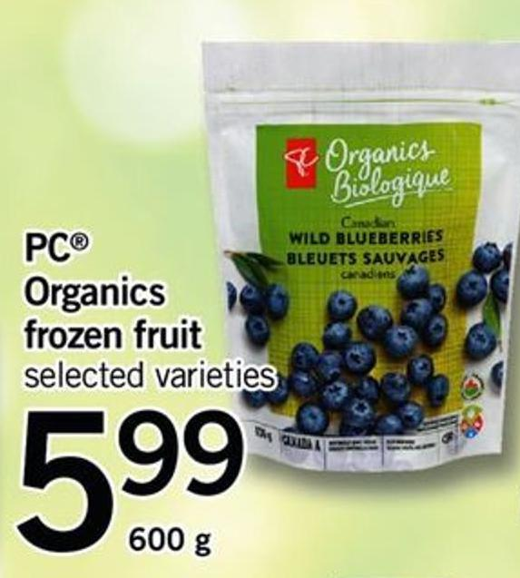 PC Organics Frozen Fruit - 600 g