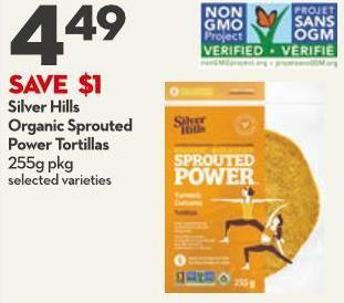Silver Hills Organic Sprouted Power Tortillas